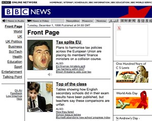 BBC News website 1998