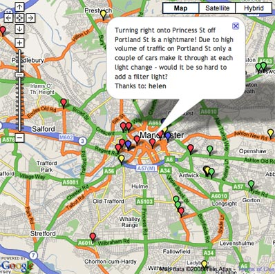 Manchester Evening News launches interactive traiffic map