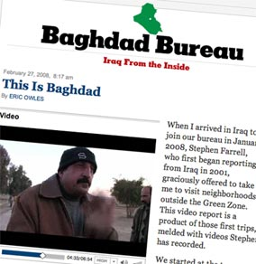 Image of Baghdad Blog on NYTimes website