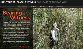 image of reuters bear witness Iraq website