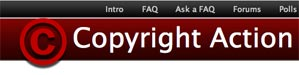 image of copyright action website