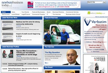 image of newbury business today website