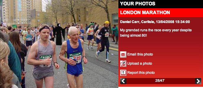 Photo of London Marathon submitted by Daniel Carr to Sky News' Your Photos