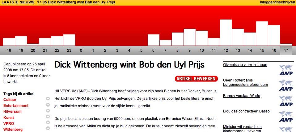 Screenshot of EN.nl