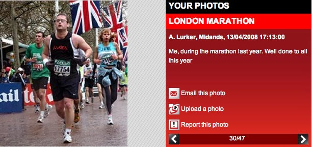 Photo of London Marathon submitted by A. Lurker to Sky News' Your Photos