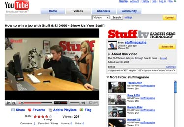 image of stuff.tv youtube page