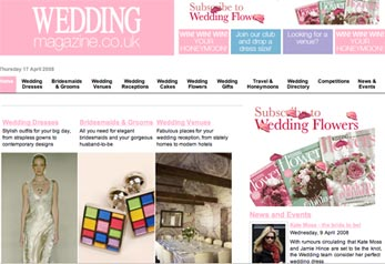 image of wedding magazine website