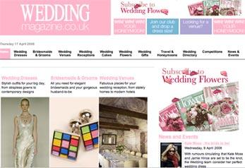 image of wedding magazine website