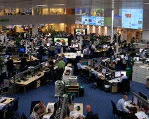 image of the Telegraph newsroom at Victoria