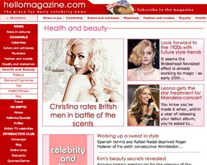 Screenshot of Hellomagazine.com