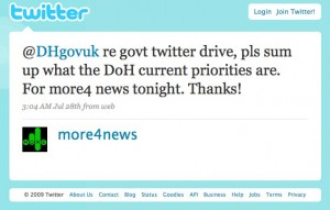 More4 News Twitter account