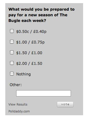 Times Online podcast payment poll