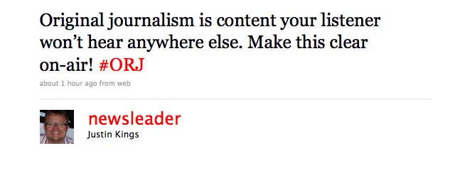 Screenshot of tweet from @newsleader