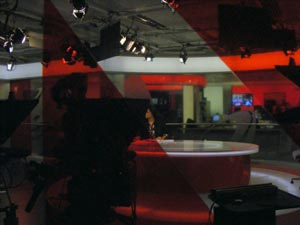 BBC newsroom studio