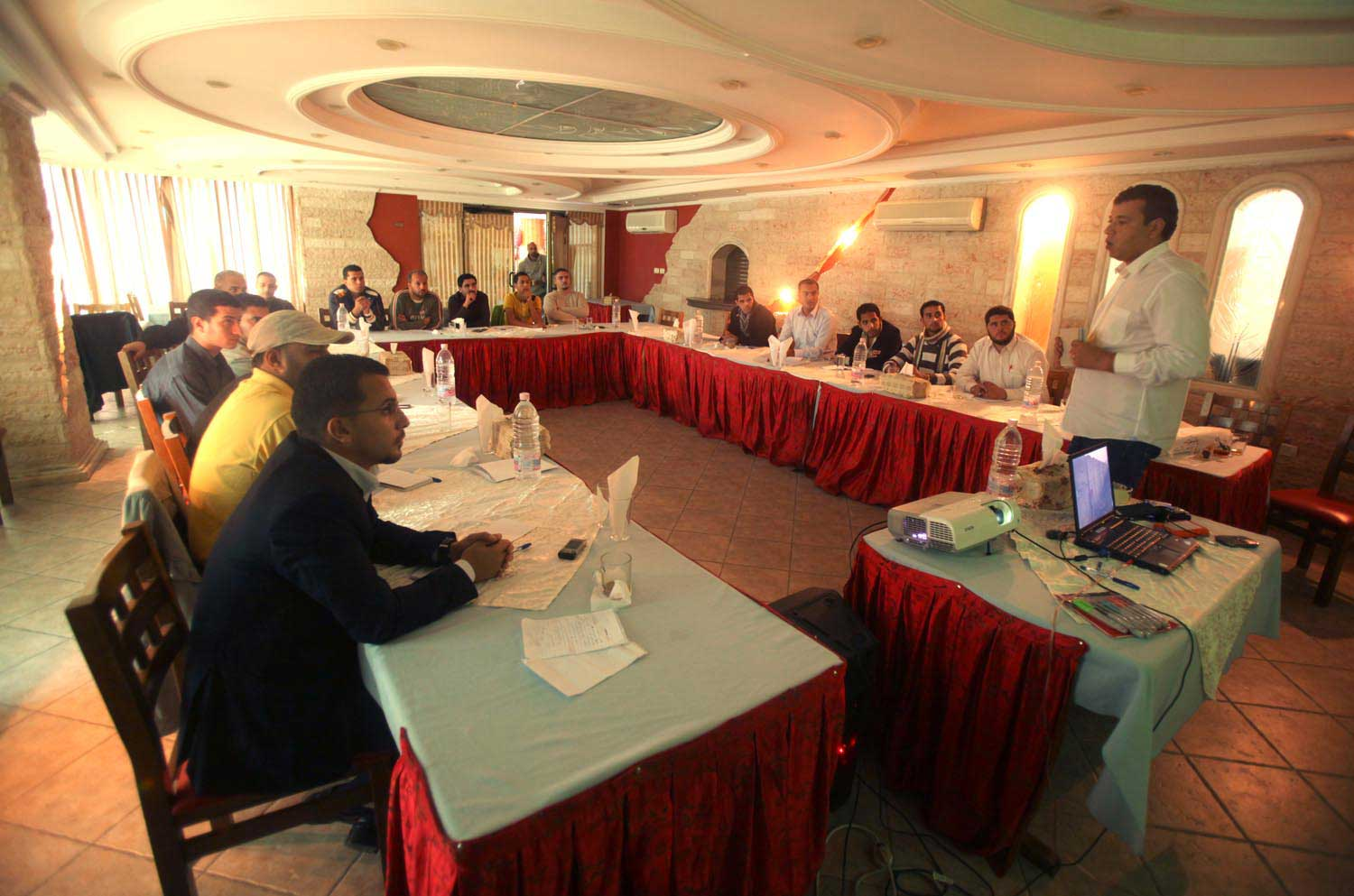 Picture of Reuters' training in Gaza