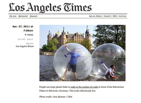 LA Times on Tumblr