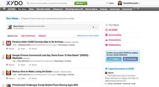 XYDO screengrab