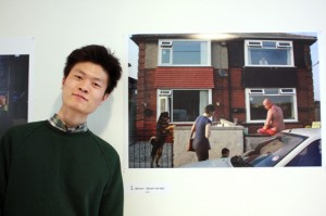 Kheoh Yee Wai, winner of the CJET Street Photographer of the Year, poses with his photo