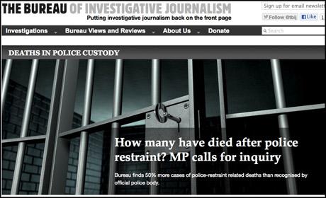 Bureau of Investigative Journalism custody