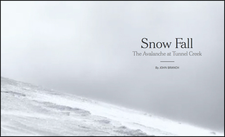 New York Times's Snowfall package